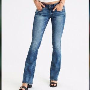 3/$30 American Eagle Slim Boot Jeans Sz 00 Long